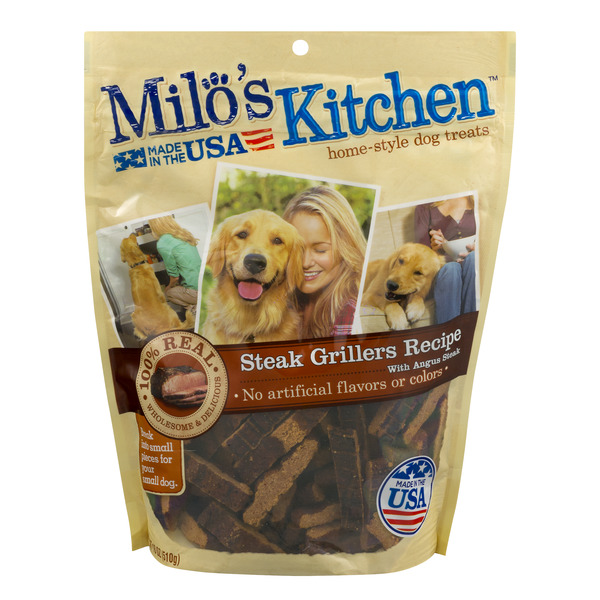 Milo's Kitchen Home Style Dog Treats Steak Grillers with Angus Steak