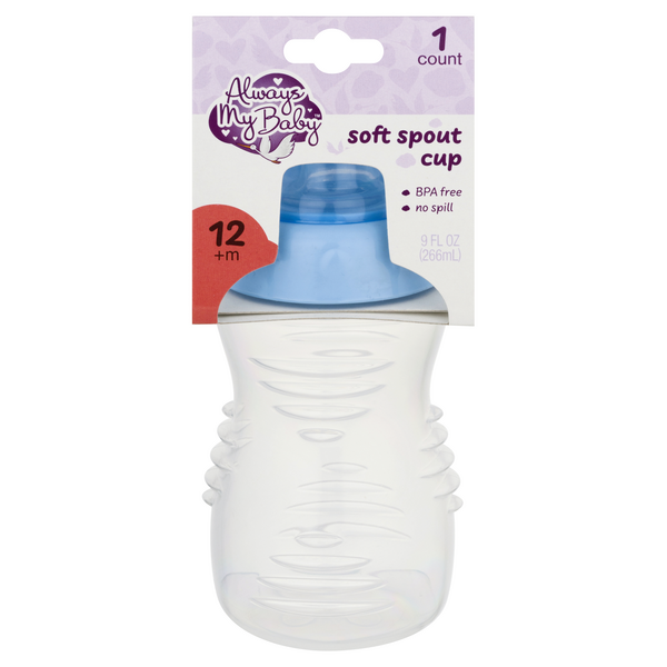 Always My Baby Soft Spout Cup Blue 12+m 9 oz