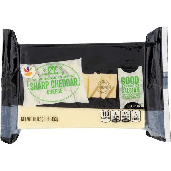 Giant Vermont Cheddar Cheese Sharp White Chunk