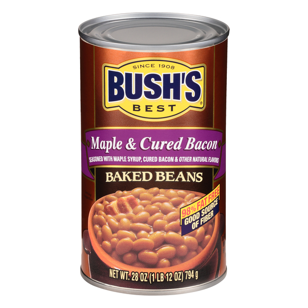 Bush's Best Baked Beans Maple & Cured Bacon 98% Fat Free