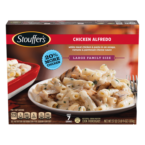 Stouffer's Chicken Alfredo Family Size Frozen Entree - Serves 7