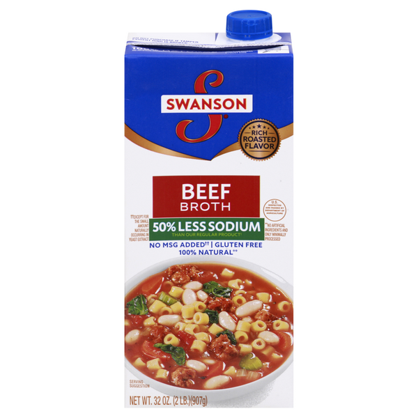 Swanson Beef Broth 50% Less Sodium