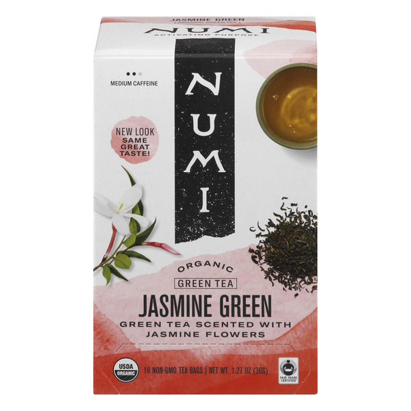 Numi Jasmine Monkey King Green Tea Bags Organic