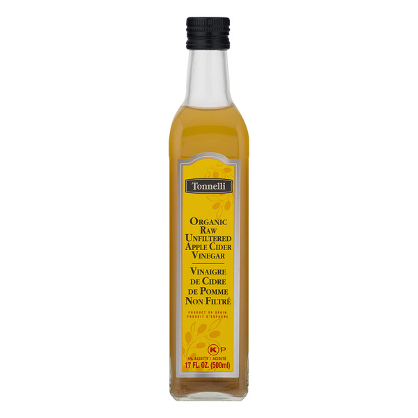 Tonnelli Apple Cider Vinegar Raw Unfiltered Organic