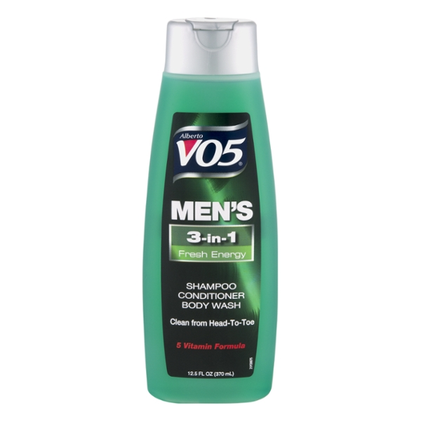 Alberto VO5 Men's 3-in-1 Shampoo & Conditioner & Body Wash Fresh Energy