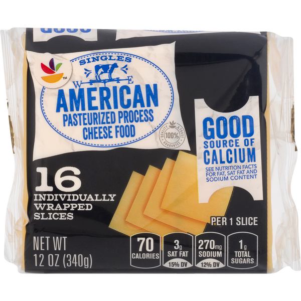 MARTIN'S American Cheese Slices Singles - 16 ct