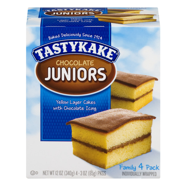 Tastykake Chocolate Juniors Yellow Layer Cake Chocolate Iced - 4 ct
