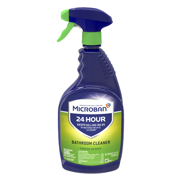 Microban 24 Hour Bathroom Cleaner Fresh Scent Trigger Spray
