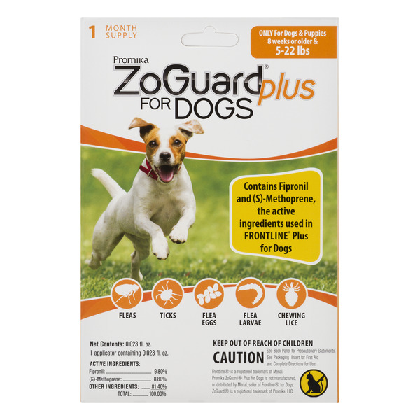 ZoGuard Plus for Dogs Flee & Tick Medicine 5-22 lbs