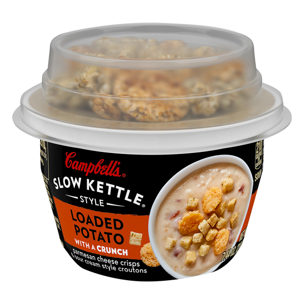 Campbell's Slow Kettle Style Soup Loaded Potato with a Crunch