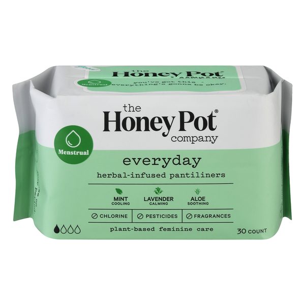 The Honey Pot everyday Menstrual herbal-infused Pantiliners