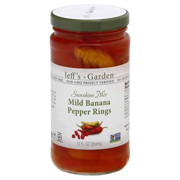 Jeff's Garden Sunshine Mix Banana Pepper Rings Mild