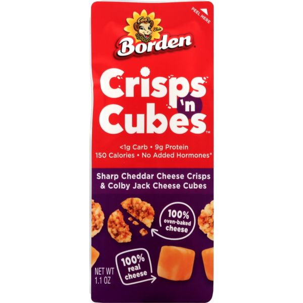 Borden Crisps 'n Cubes Sharp Cheddar Crisps & Colby Jack Cheese Cubes