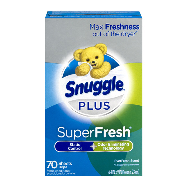 Snuggle Plus SuperFresh Fabric Conditioner Sheets EverFresh Scent