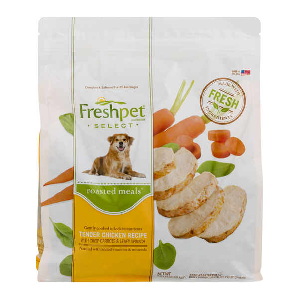 Freshpet Select Refrigerated Dog Food Roasted Meals Tender Chicken Recipe