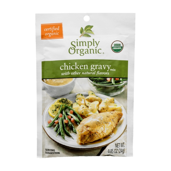 Simply Organic Gravy Mix Packet Chicken