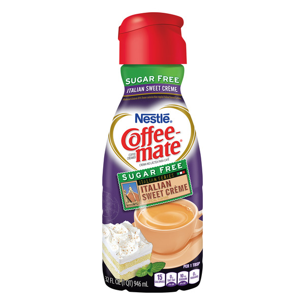 Nestle Coffee-mate Liquid Coffee Creamer Italian Sweet Creme Sugar Free