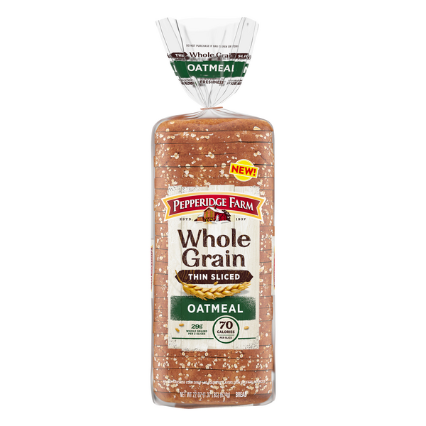 Pepperidge Farm Whole Grain Oatmeal Bread Thin Sliced