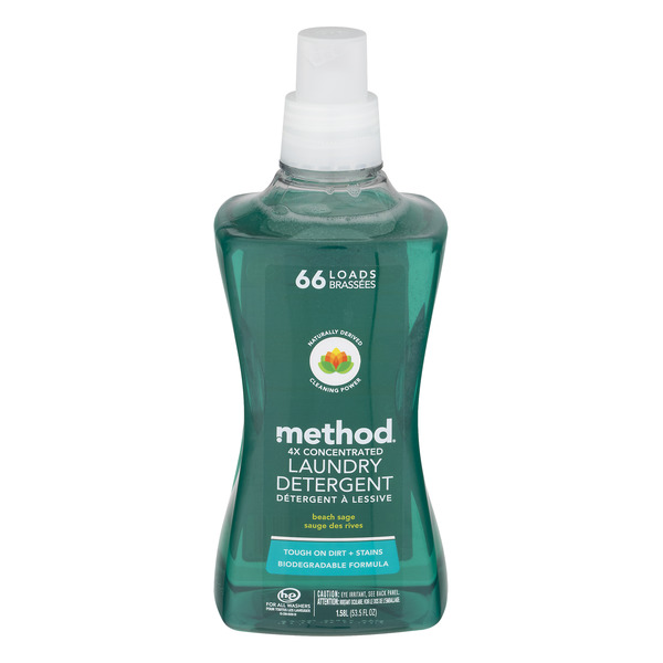 Method 4X Concentrated Liquid Laundry Detergent HE Beach Sage