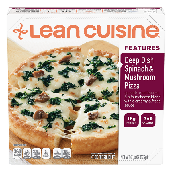 Lean Cuisine Features Deep Dish Pizza Spinach & Mushroom