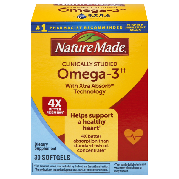 Nature Made Omega-3 Dietary Supplement Softgels