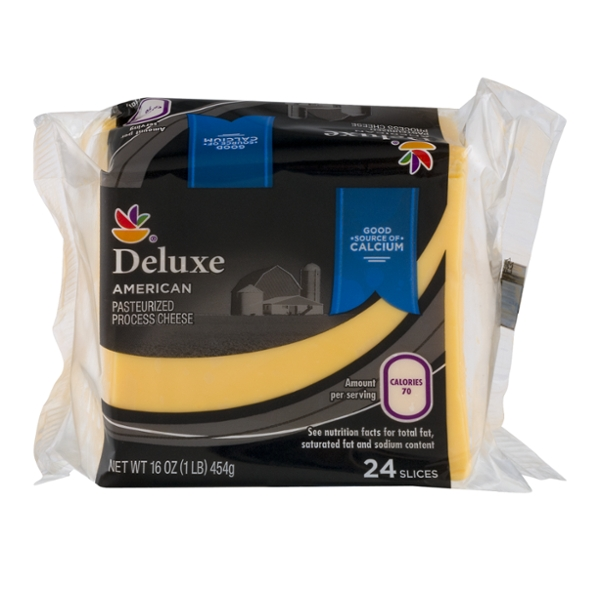 MARTIN'S Deluxe American Cheese Food Yellow Slices - 24 ct