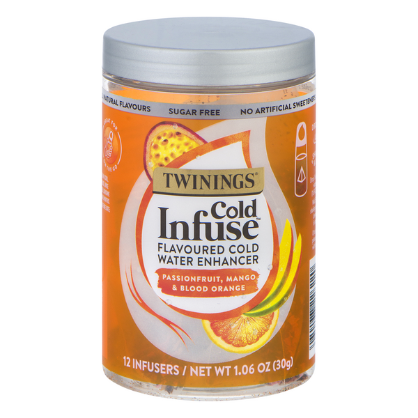 Twinings Cold Infuse Flavored Water Enhancer Mango/Passionfruit Sugar Free