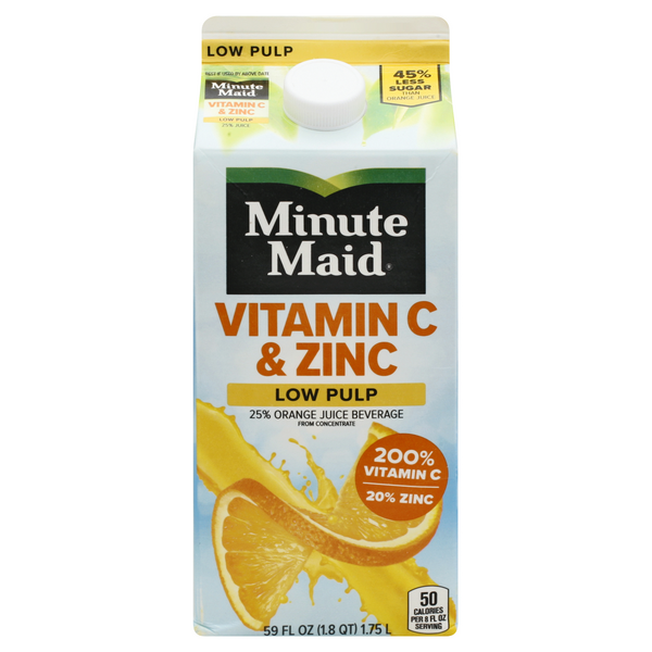 Minute Maid Vitamin C & Zinc Orange Juice Low Pulp