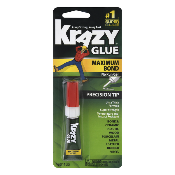 Krazy Glue Instant Advanced Formula Maximum Bond Gel Precision Tip