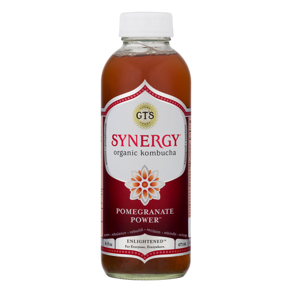 GT's Enlightened Pomegranate Power Kombucha
