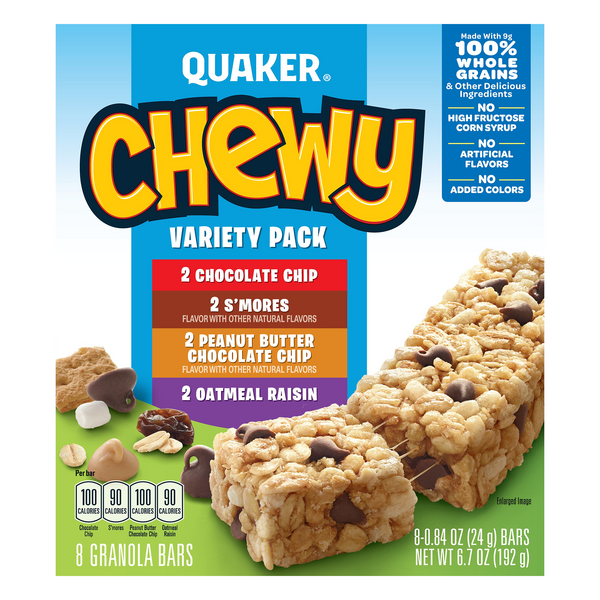 Quaker Chewy Granola Bars Variety Pack - 8 ct