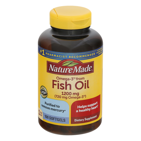 Nature Made Fish Oil 1200 mg Dietary Supplement Softgels