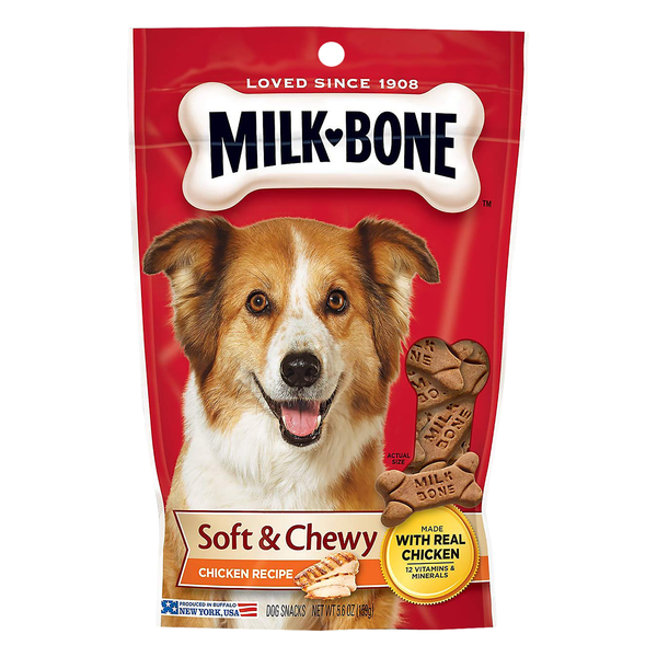 Milk-Bone Dog Snacks Soft & Chewy Chicken Recipe