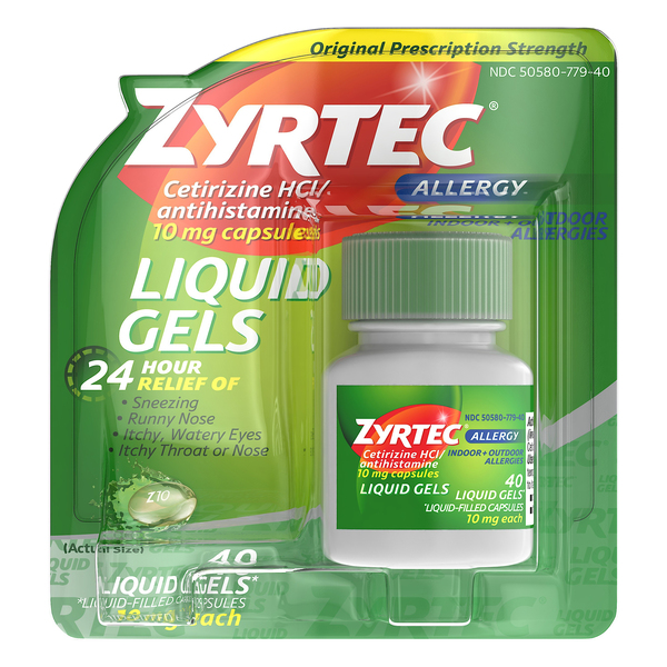 Zyrtec Allergy Relief 24-Hour 10 mg Liquid Gels