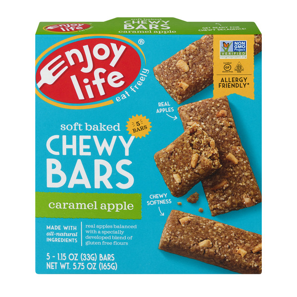Enjoy Life Soft Baked Chewy Bars Caramel Apple Gluten Free - 5 ct