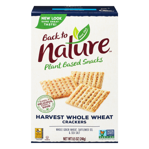 Back to Nature Crackers Harvest Whole Wheat 100% Natural