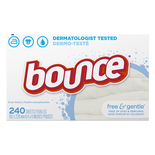 Bounce Fabric Softener Sheets Free & Gentle