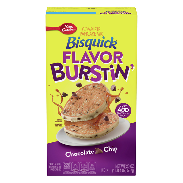 Bisquick Flavor Burstin' Complete Pancake Mix Chocolate Chip