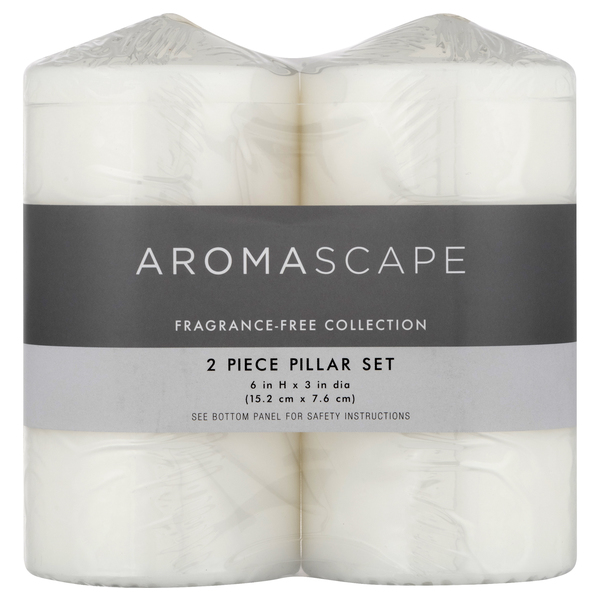 Aromascape Pillar Candles Fragrance Free 6 x 3 Inch