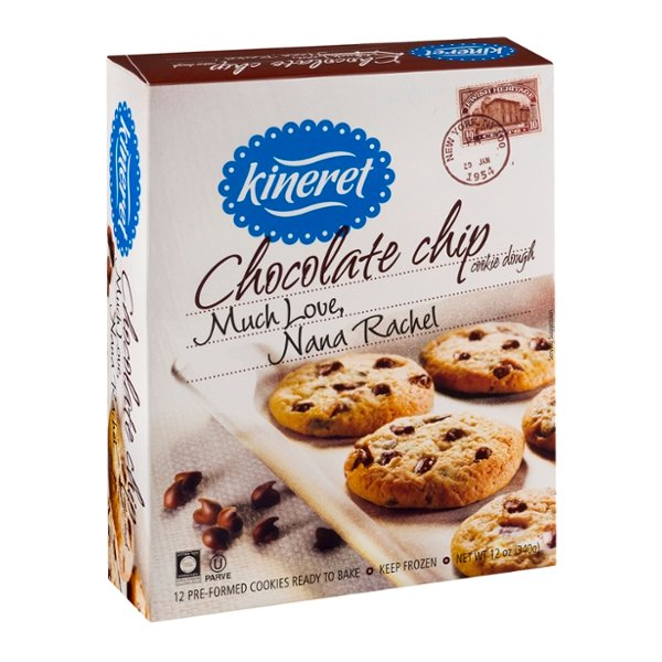 Kineret Chocolate Chip Cookie Dough - 12 ct