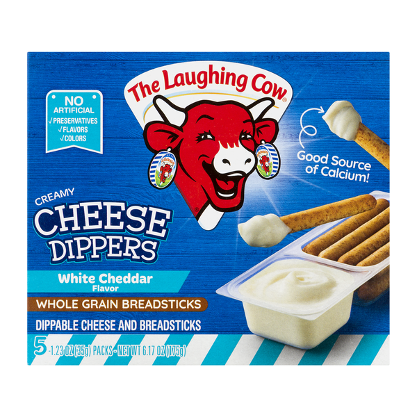 The Laughing Cow Cheese Dippers Creamy White Cheddar - 5 ct