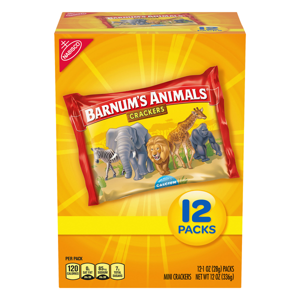 Nabisco Barnum's Animal Crackers Snack Packs - 12 pk