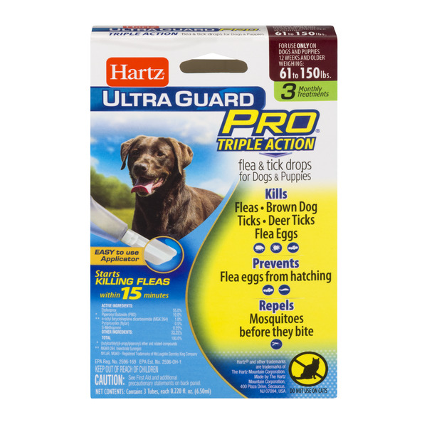 Hartz UltraGuard Pro Flea & Tick Drops for Dogs & Puppies 61-150 lbs