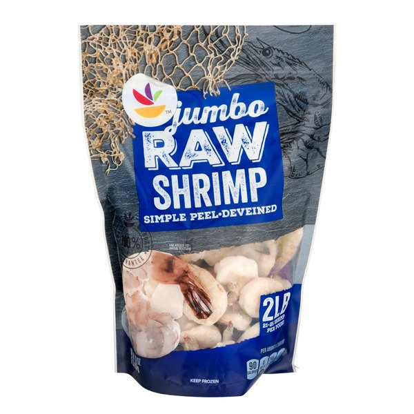 Giant Raw Shrimp Simple Peel Jumbo 21-25 ct per lb Frozen