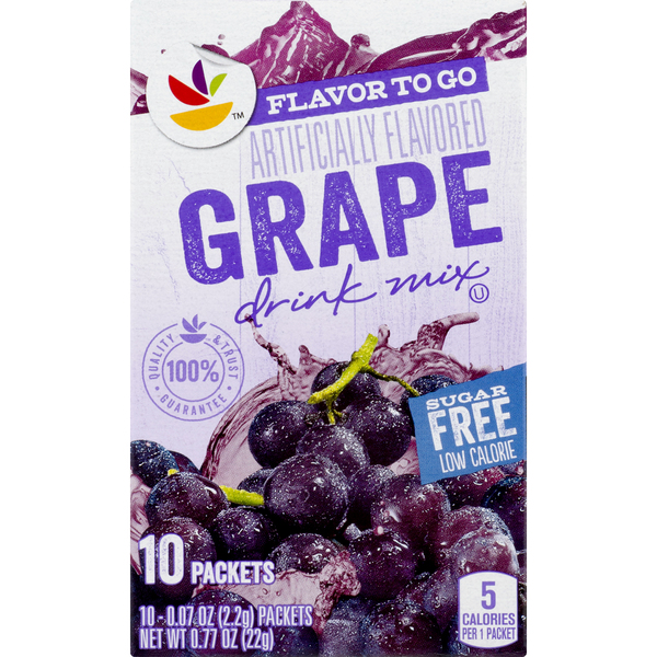 Giant Flavor to Go Drink Mix Grape Sugar Free