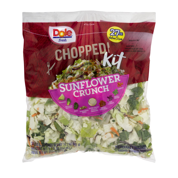 Dole Chopped Salad Kit Sunflower Crunch Family Size All Natural