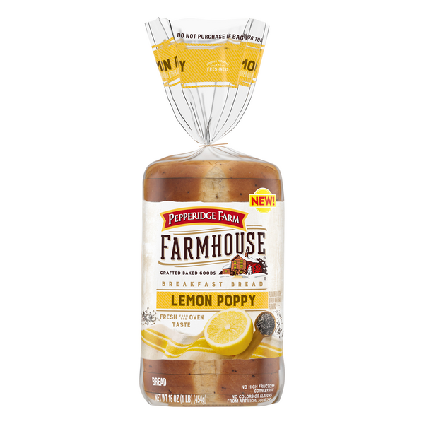 Pepperidge Farm Farmhouse Breakfast Bread Lemon Poppy