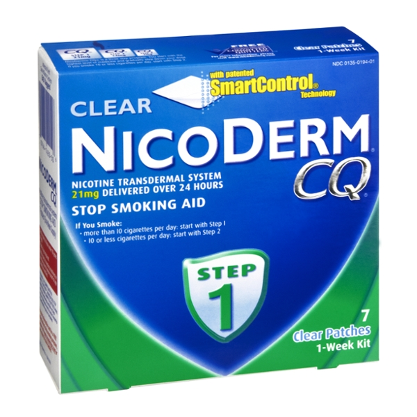 Nicoderm CQ Stop Smoking Patch Clear Step #1