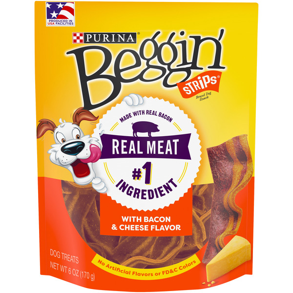 Purina Beggin' Strips Dog Treats Bacon & Cheese Flavors
