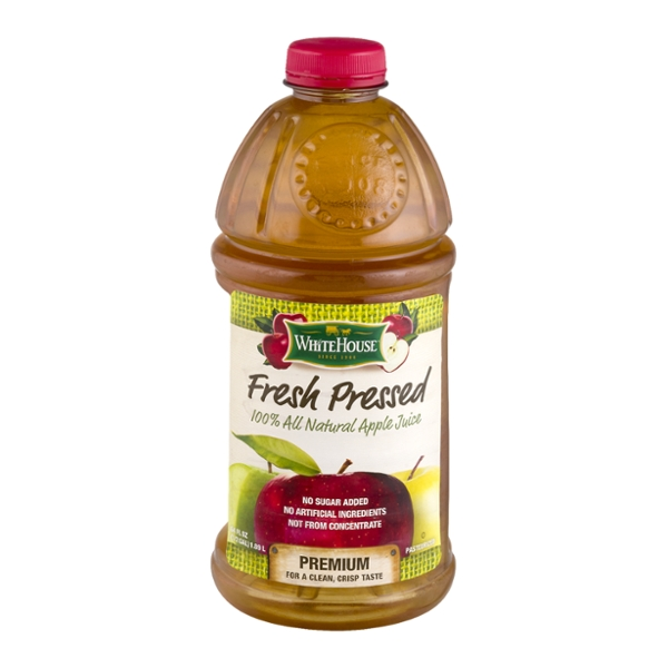 White House 100% Apple Juice Fresh Pressed